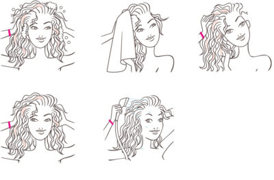 illustration beauté routine mode empli