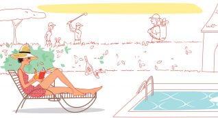 """animation / motion design """"les Maisons de Katy et Jacques"""" au bord de la piscine"""