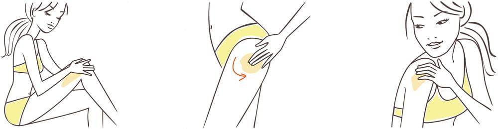 beauty illustration, body care