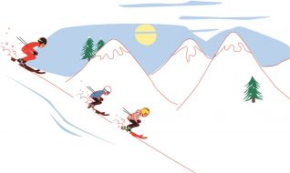 """animation / motion design """"les Maisons de Katy et Jacques"""" le ski et la montagne"""