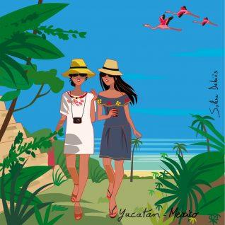 illustrateur voyage Mexique femmes