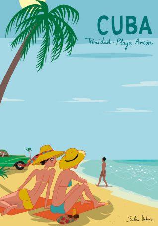 poster touristique plage cuba