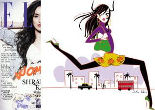 illustratrice magazine ELLE féminine
