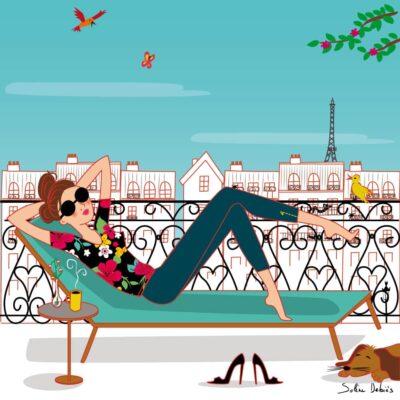 illustrateur dessin femme parisienne
