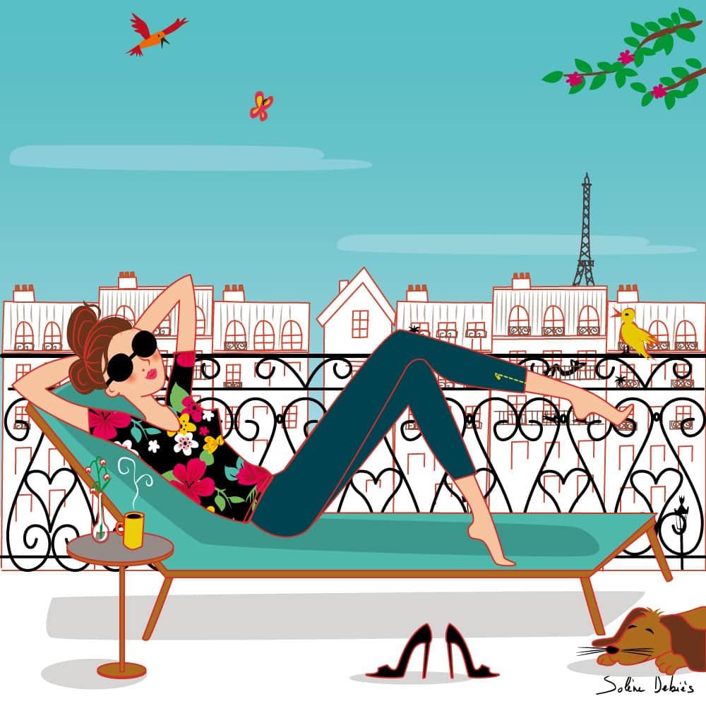parisienne toits paris