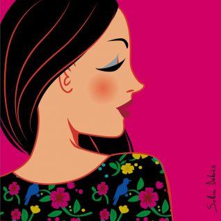 dessin femme profil