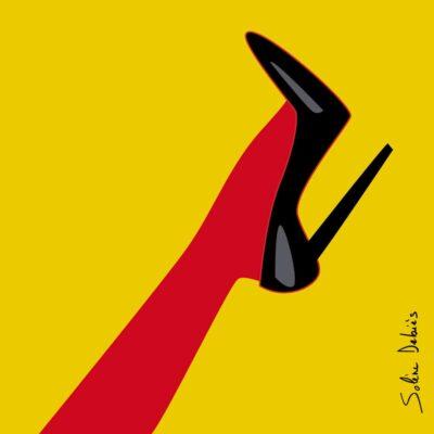 picto femme pied graphique