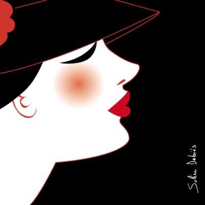 profil femme stylise