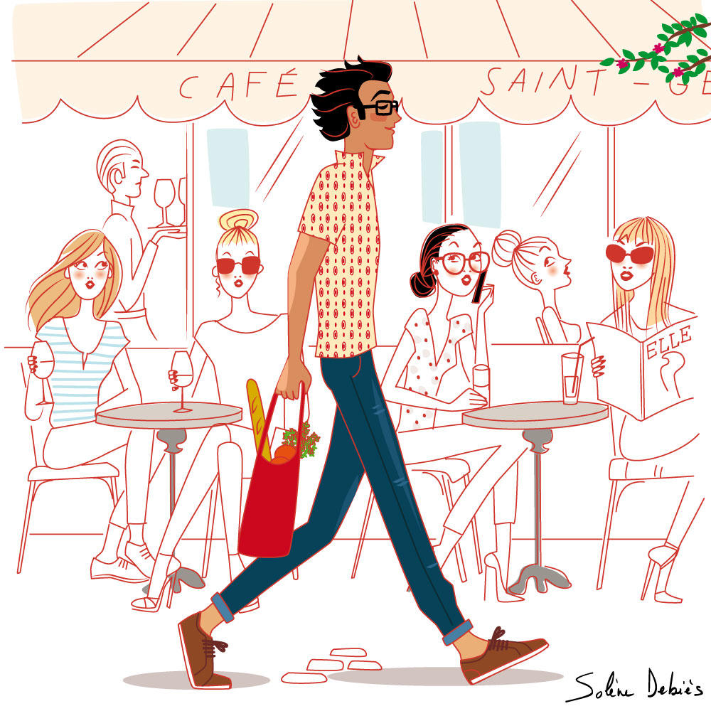 illustrateur homme paris femmes