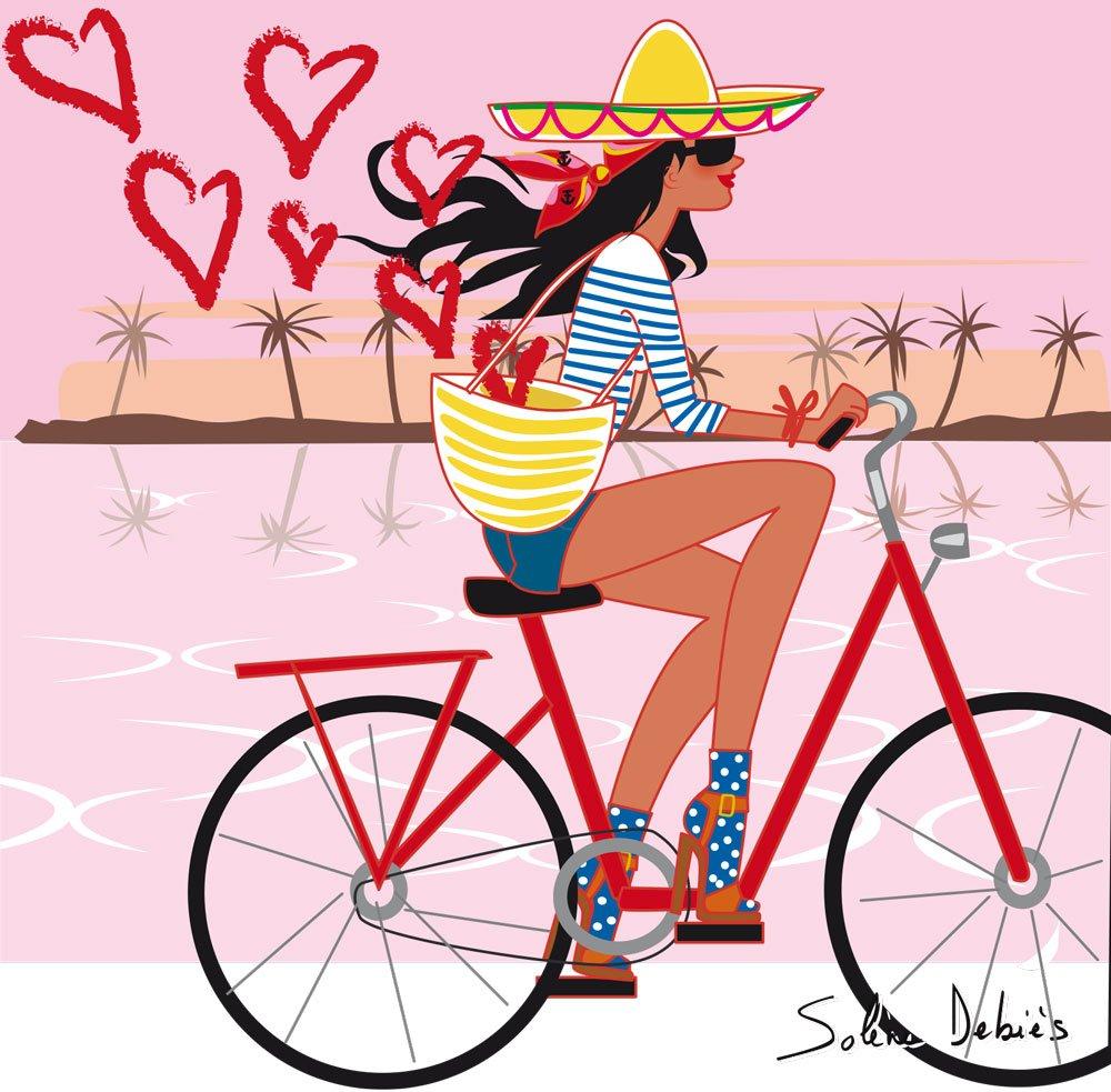 illustrateur vacances vélo