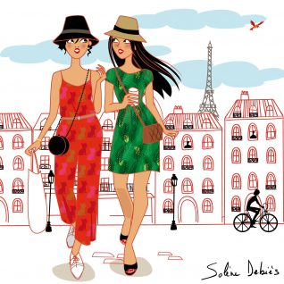 illustrateur illustratrices femmes parisiennes mode paris