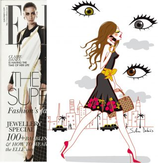 Illustration for the magazine ELLE India