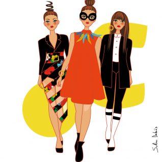 3 femmes graphiques à la fashion week