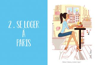 dessin d'humour d'une parisienne dans son appartement à Paris
