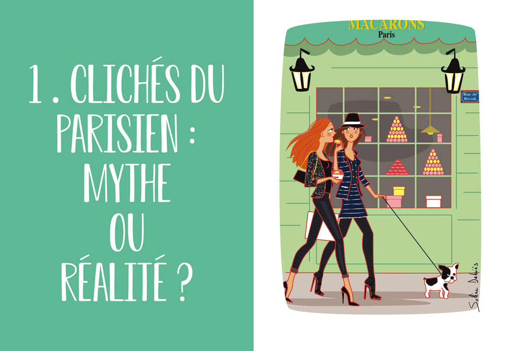 clichés des parisiennes à Paris, illustration d'humour du livre d'Olivier Giraud