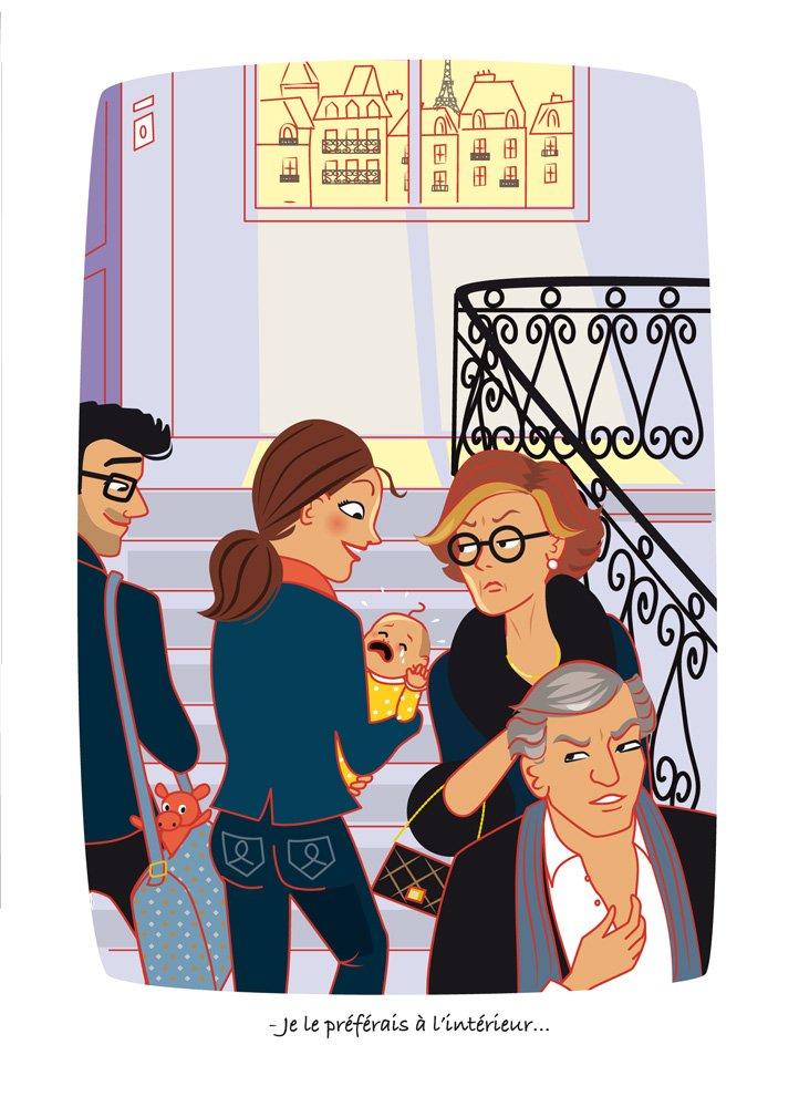 """illustration du """"Guide (très) pratique du parfait parisien"""" d'Olivier Giraud"""