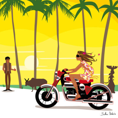 femme moto Inde