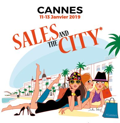 Affiche Ville de Cannes Sud illustration