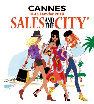 illustration 3 women walking in Cannes