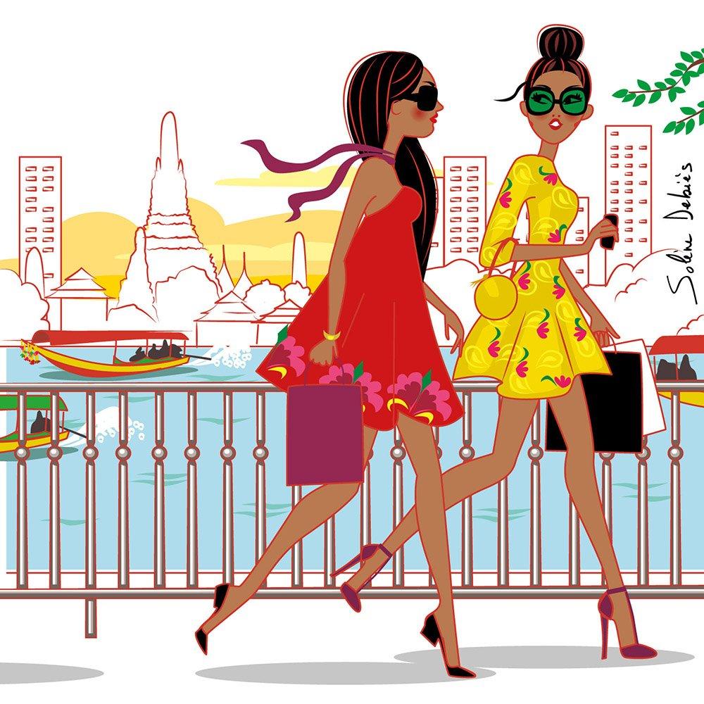 femmes voyage bangkok mode