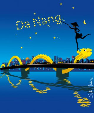 DaNang-illustration-tourism-woman