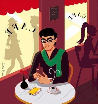 cafe-man-atmosphere-illustrator