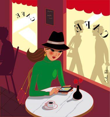femme café Paris