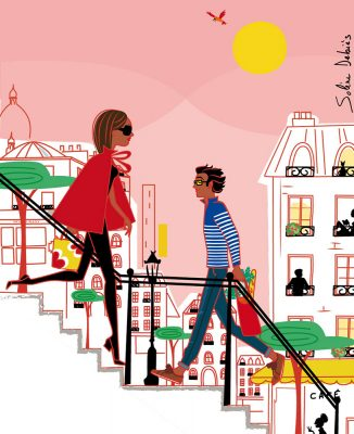 characters love paris Montmartre