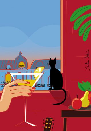 window-landscape-illustration