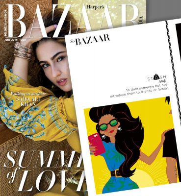illustration magazine Harper's Bazaar
