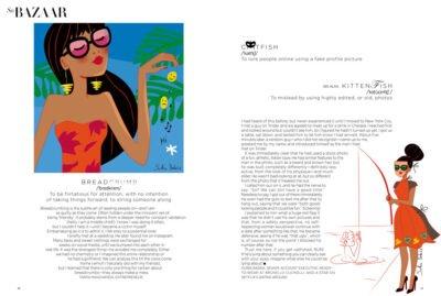 editorial illustration love social network