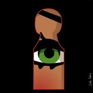 illustration éditoriale d'un Oeil pour le magazine Harper's bazaar India