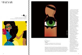 "illustrations pour Harper's bazaar India > ""Modern love"""