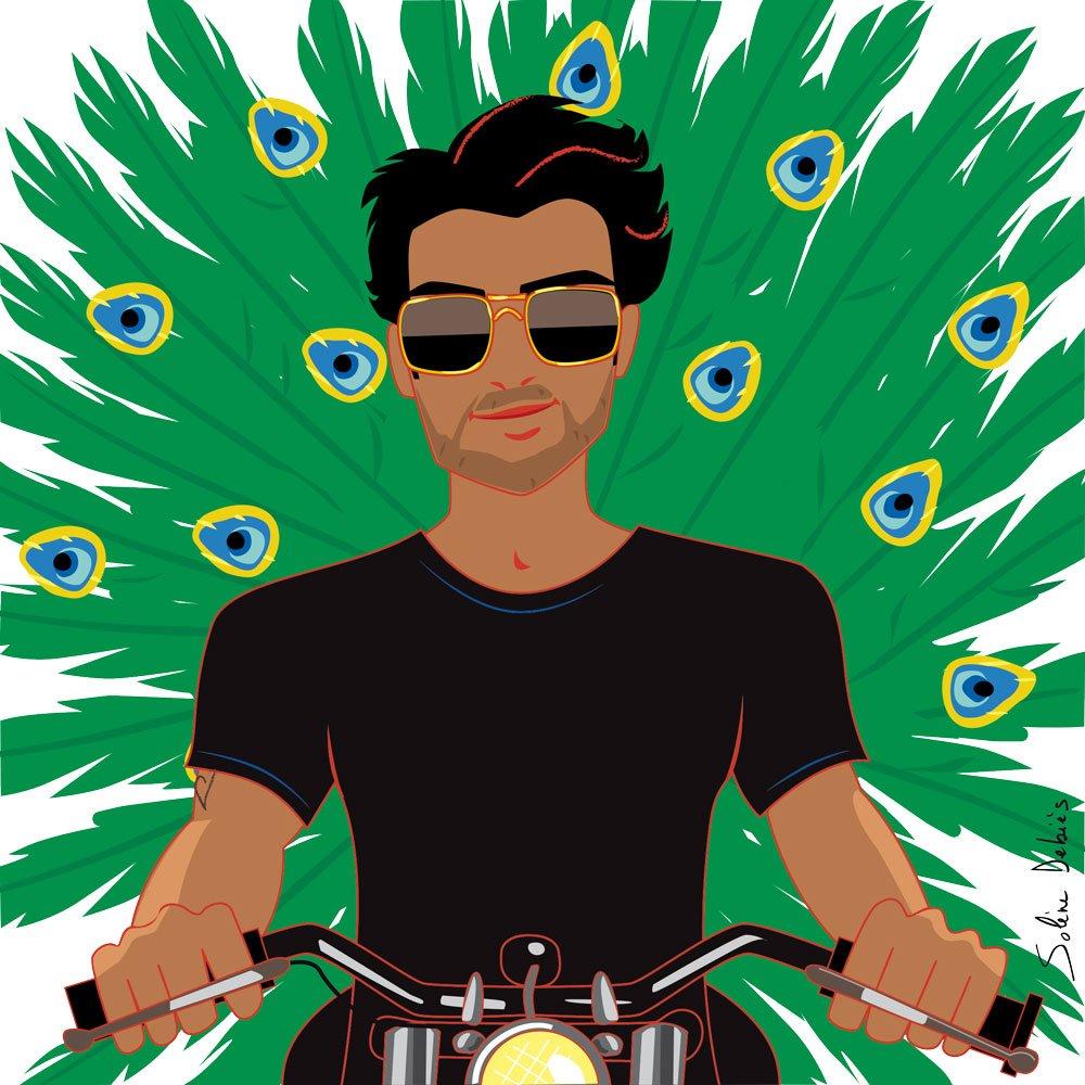 homme paon moto machiste