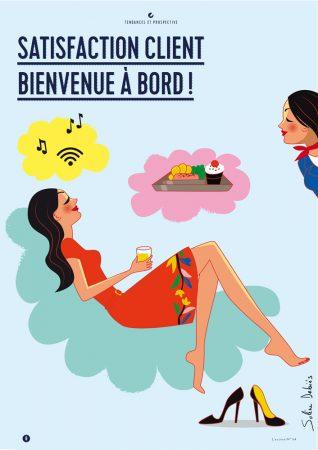 Création d'illustration pour le magazine d'Air France