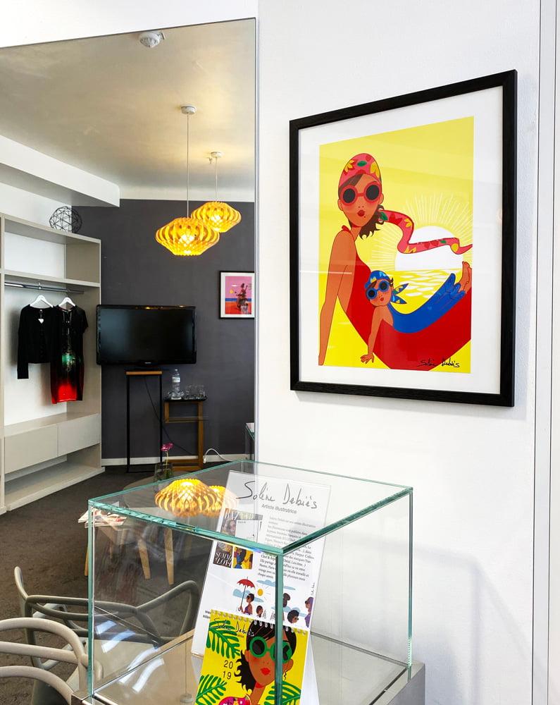Exposition d'affiches illustrées aux Galeries Lafayette