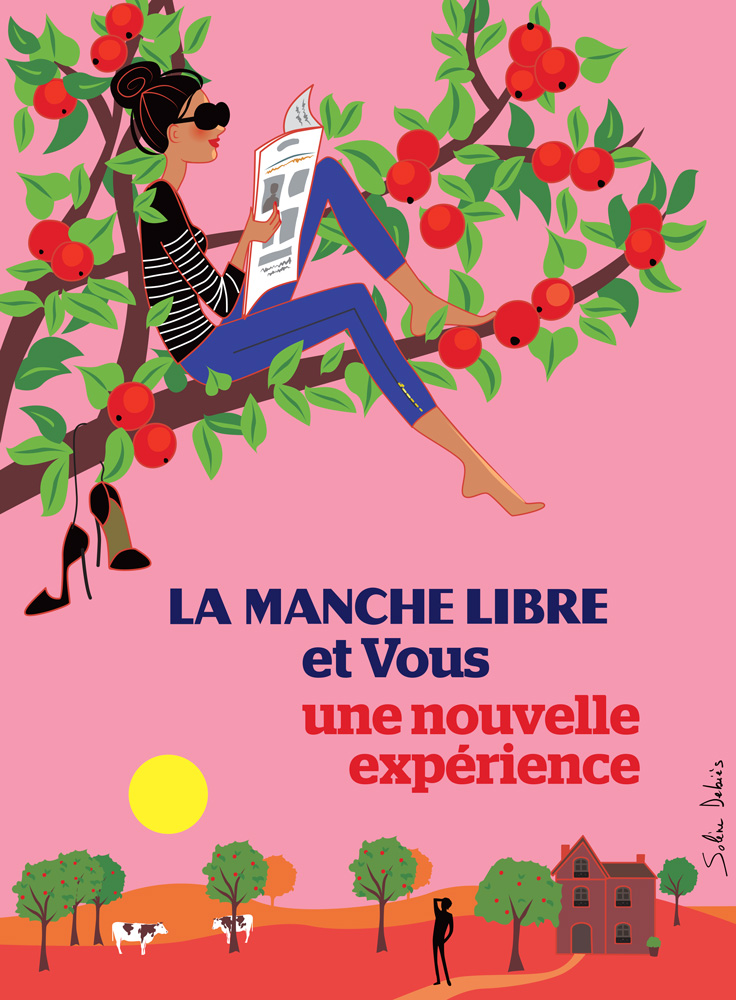 affiche publicité femme Normandie