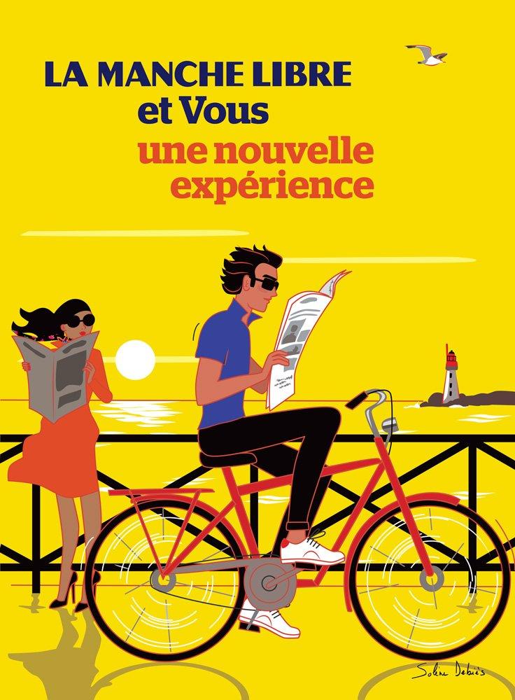 visuel affiche publicité homme vélo