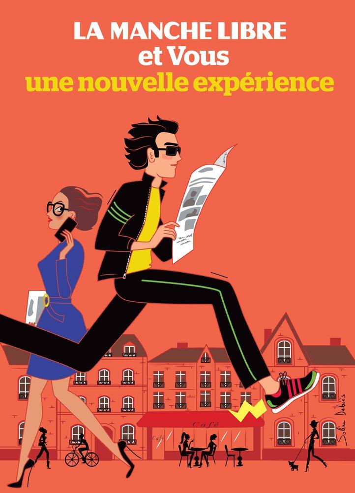 """Illustration pour campagne de publicité du journal """"La Manche Libre"""""""