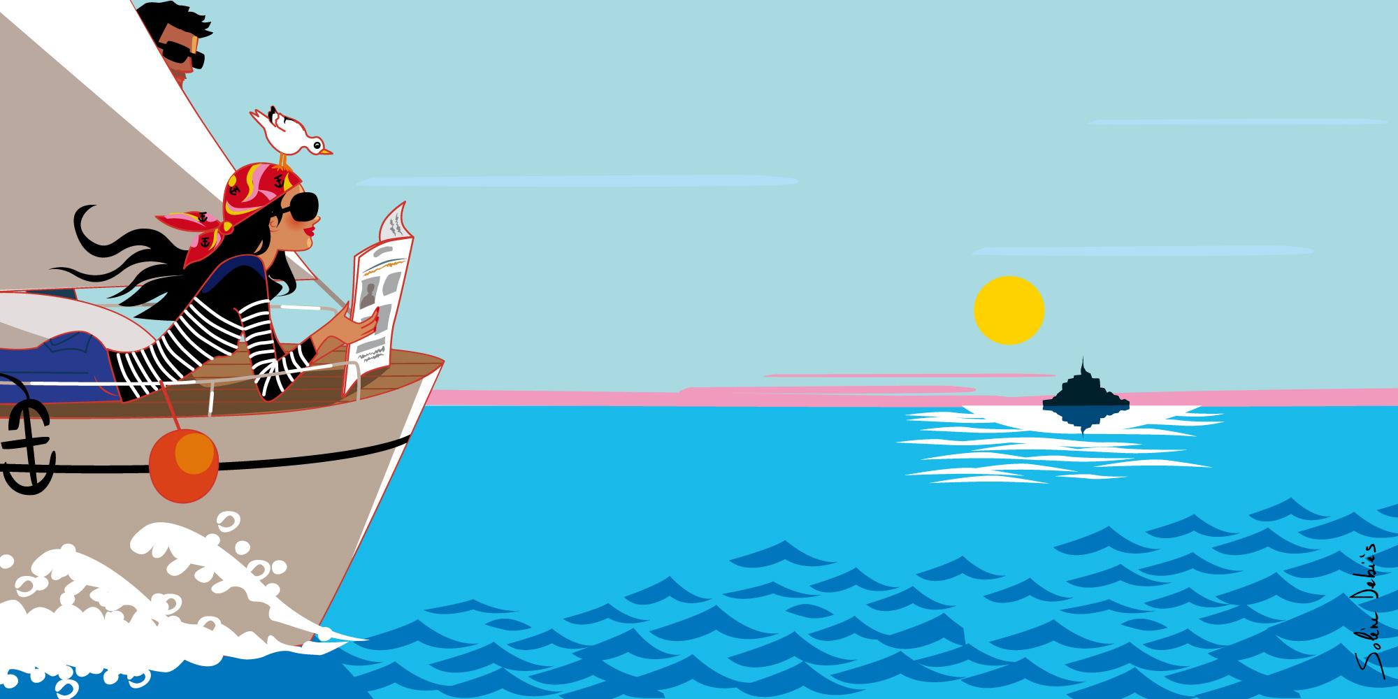femme voilier mer