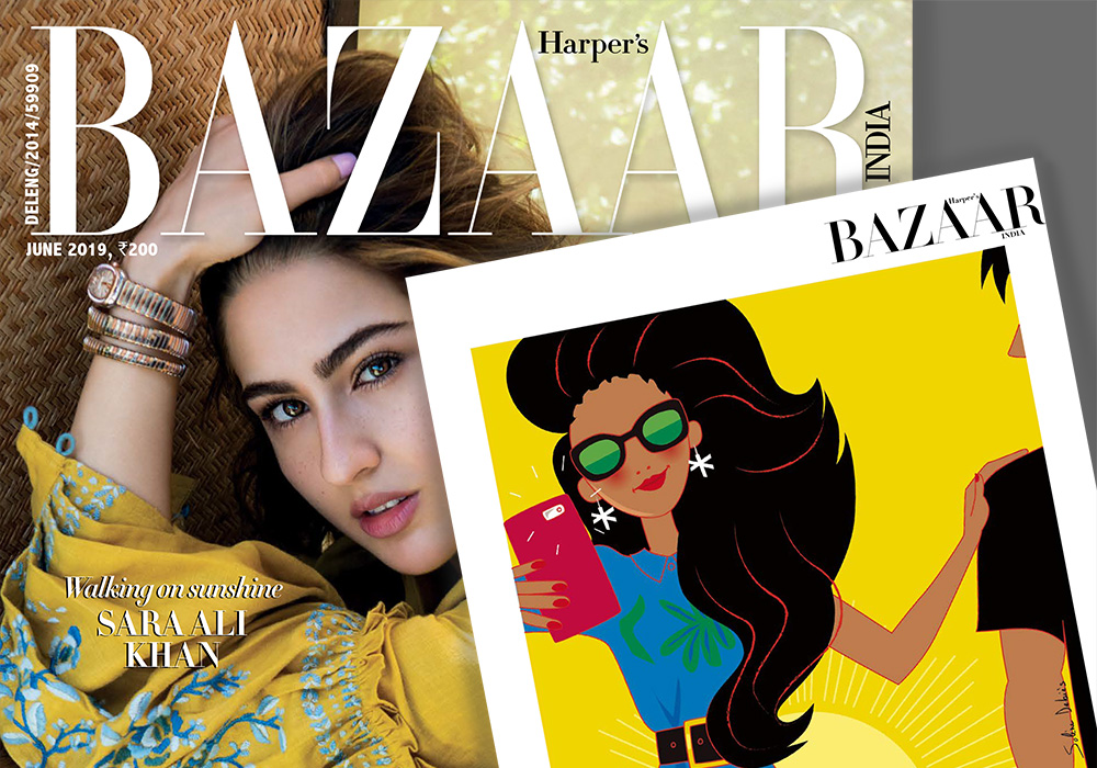 illustration magazine Bazaar india