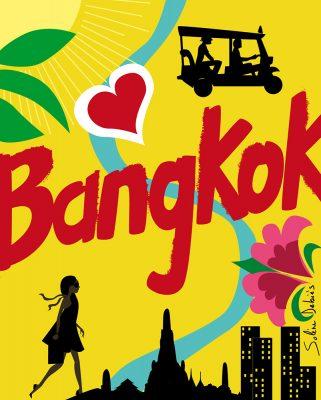 Bangkok graphic map