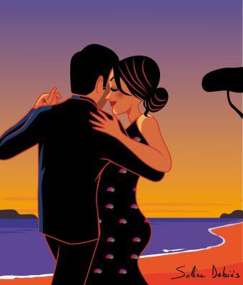couple dance beach
