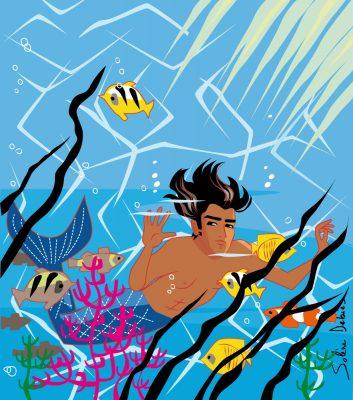 triton homme sirène sous-marin