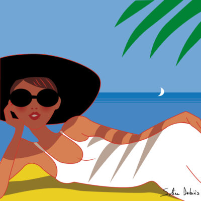femme plage mer