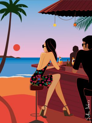 couple vacances bar plage