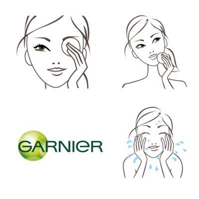Routine de beauté pour Garnier