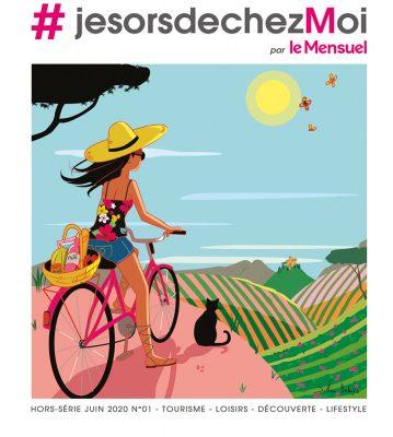 femme vélo sud paysage