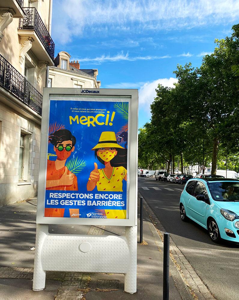 affiches ville nantes covid