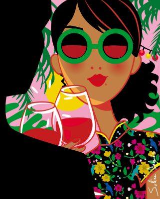 woman man wine